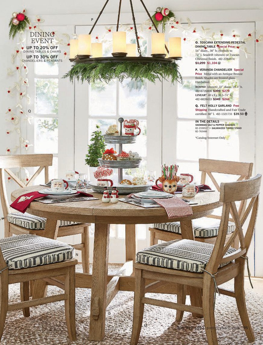 Pottery Barn – Holiday 2017 D1 – Toscana Extending Pedestal Pertaining To Latest Benchwright Round Pedestal Dining Tables (View 20 of 25)