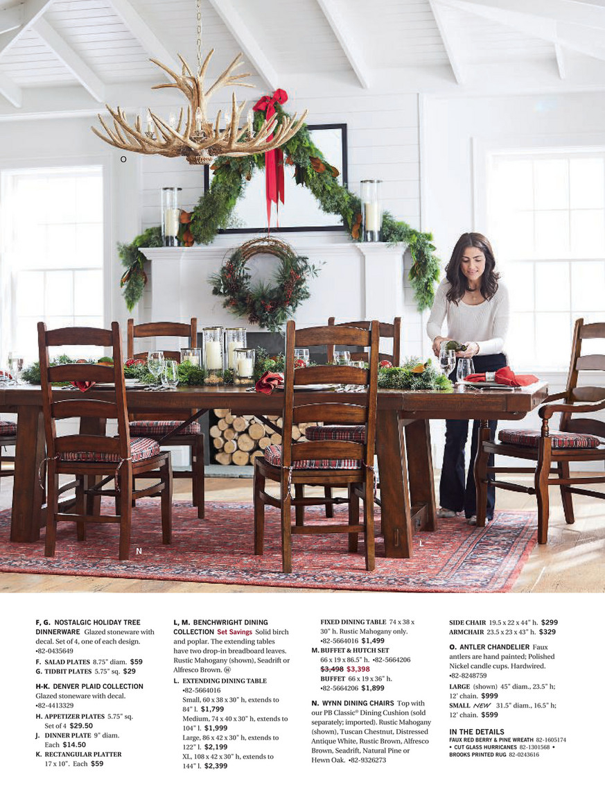 Pottery Barn – Holiday 2017 D3 – Benchwright Hutch, Rustic Within Best And Newest Rustic Mahogany Benchwright Dining Tables (View 11 of 25)