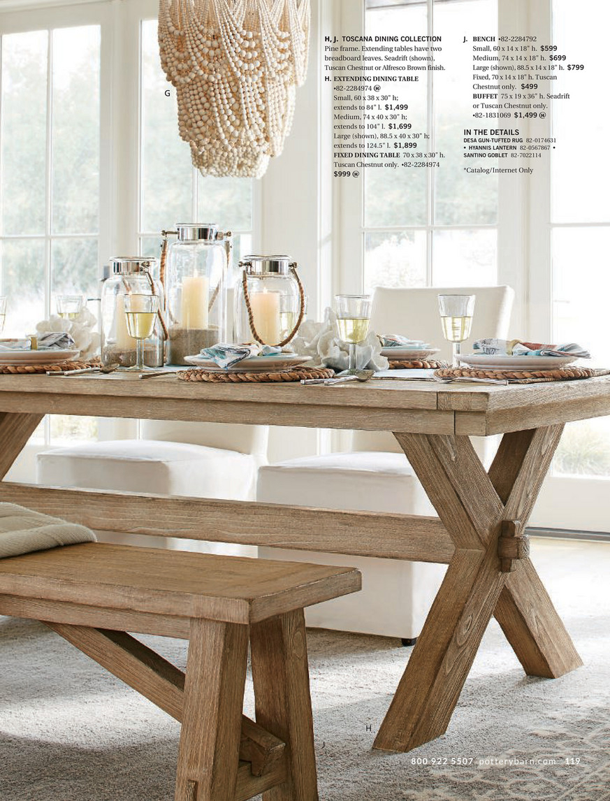 Pottery Barn – Holiday 2017 D3 – Toscana Dining Bench, (View 5 of 25)