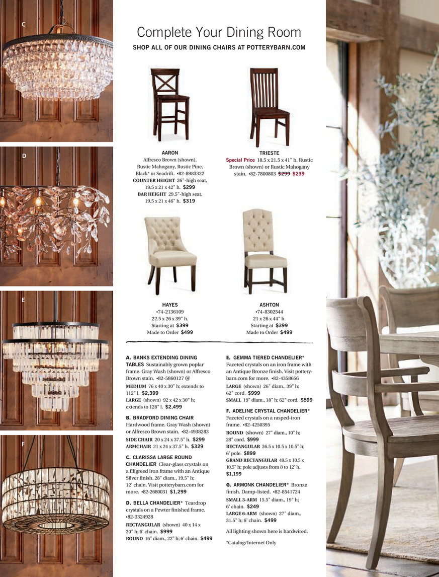Pottery Barn – Holiday 2017 D4 – Page 44 45 With Most Recently Released Seadrift Banks Extending Dining Tables (View 7 of 25)