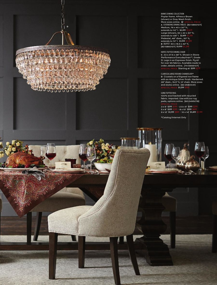Pottery Barn Holiday 2018Pottery Barn In Current Black Wash Banks Extending Dining Tables (View 24 of 25)