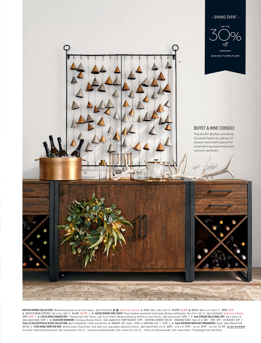 Pottery Barn – Holiday D1 – 2019 – Griffin Reclaimed Wood For Most Recent Griffin Reclaimed Wood Dining Tables (View 16 of 25)
