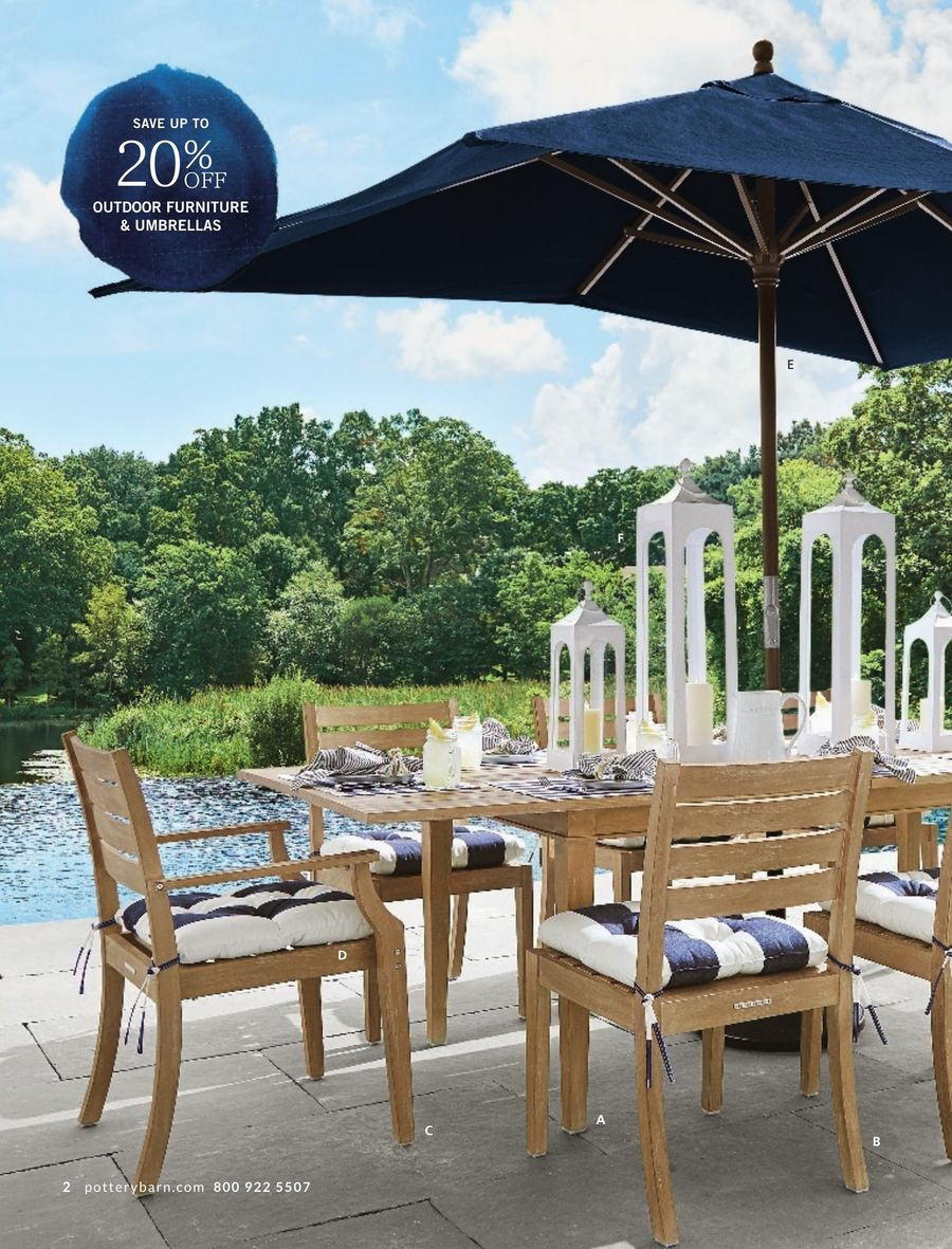 Pottery Barn May 2017Pottery Barn Inside Most Up To Date Alfresco Brown Banks Pedestal Extending Dining Tables (View 24 of 25)