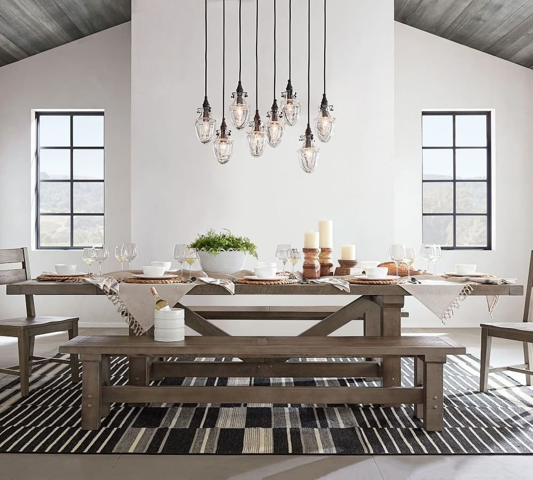"""Pottery Barn On Instagram: """"Equal Parts Rustic And Cool, Our Intended For Best And Newest Blackened Oak Benchwright Extending Dining Tables (View 9 of 25)"""