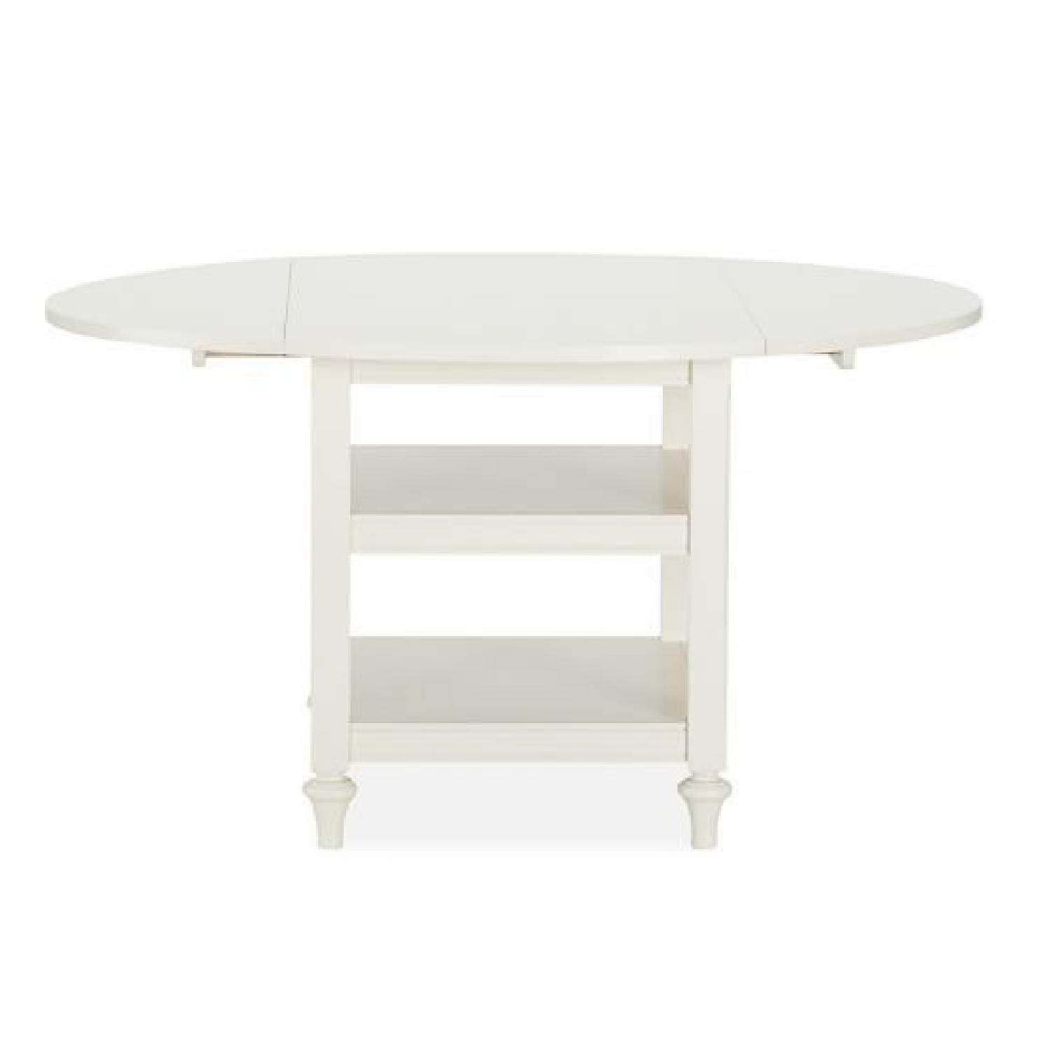 Pottery Barn Oval Drop Leaf Table | Dining Tables | White Intended For Latest Antique White Shayne Drop Leaf Kitchen Tables (View 4 of 25)