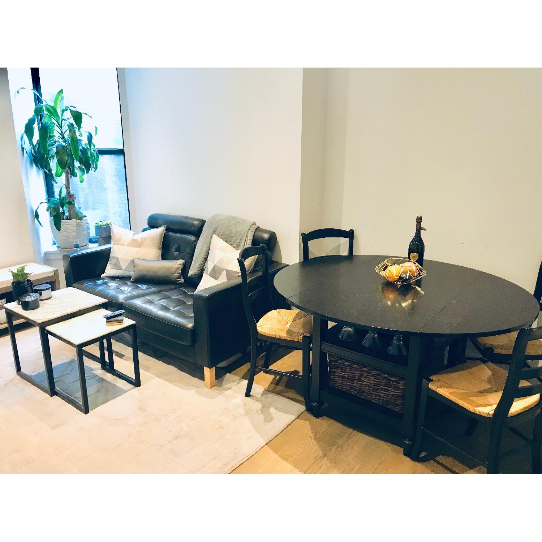 Pottery Barn Shayne Black Drop Leaf Kitchen Table – Aptdeco With 2018 Black Shayne Drop Leaf Kitchen Tables (View 10 of 25)