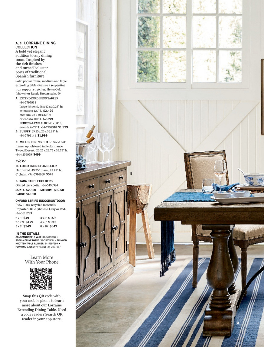 Pottery Barn – Spring 2017 D1 – Lorraine Extending Dining Throughout Newest Hewn Oak Lorraine Extending Dining Tables (Image 17 of 25)