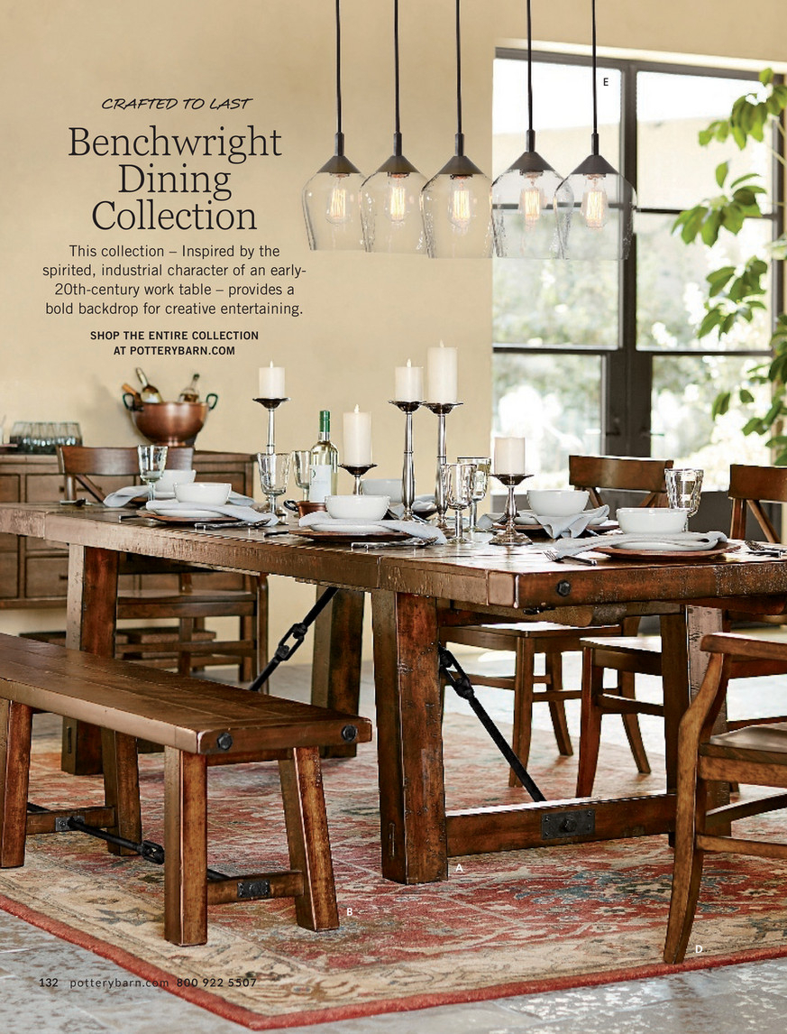 Pottery Barn – Spring 2017 D2 – Benchwright Extending Dining Pertaining To Newest Rustic Mahogany Benchwright Dining Tables (View 20 of 25)