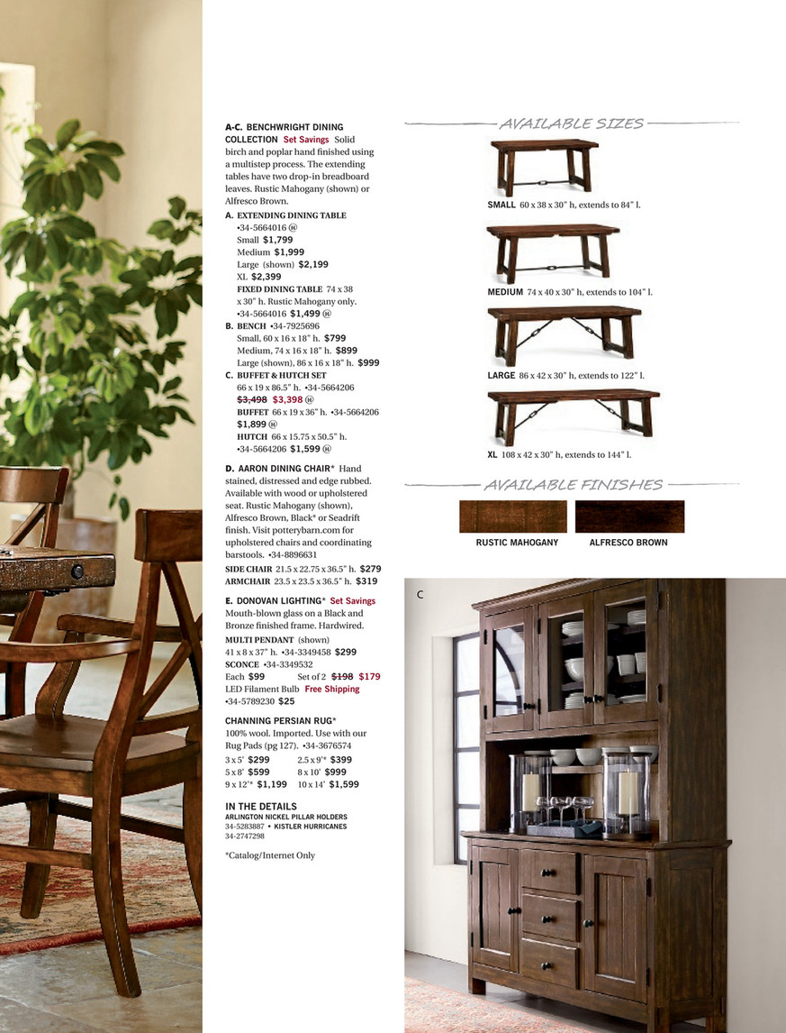 Pottery Barn – Spring 2017 D2 – Benchwright Extending Dining With Best And Newest Rustic Mahogany Benchwright Dining Tables (View 15 of 25)