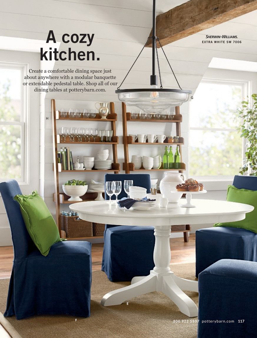 Pottery Barn – Spring 2017 D2 – Shayne Round Drop Leaf With Regard To Newest Mahogany Shayne Drop Leaf Kitchen Tables (View 20 of 25)