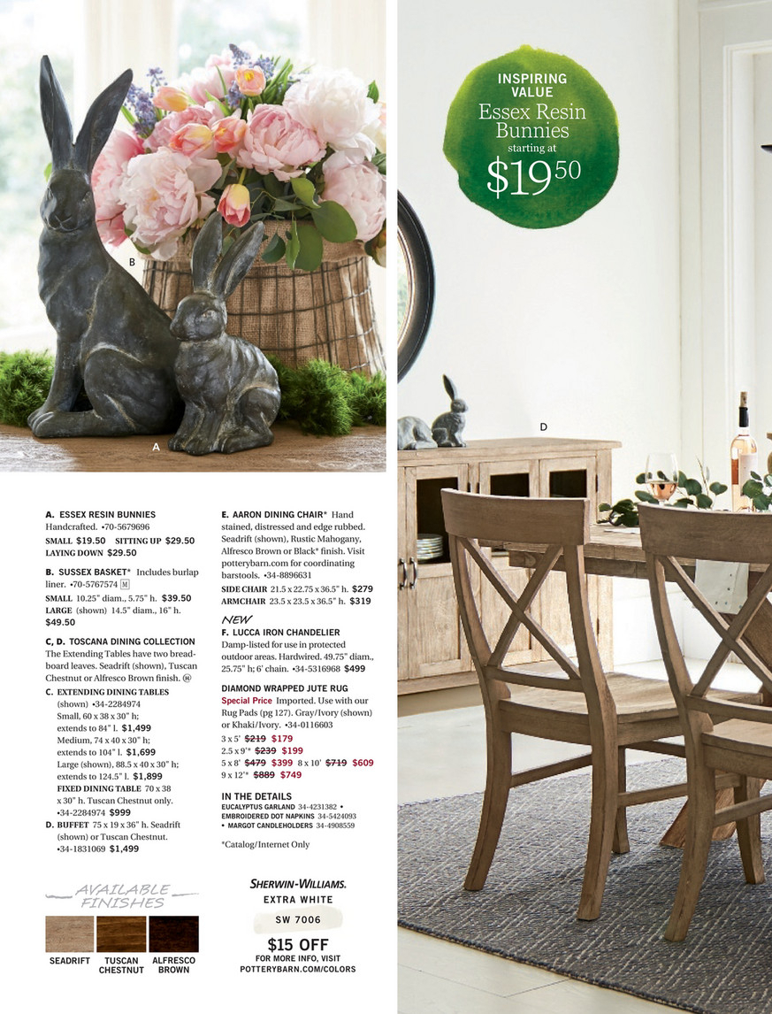 Pottery Barn – Spring 2017 D2 – Toscana Extending Dining Throughout Current Seadrift Toscana Extending Dining Tables (View 14 of 25)