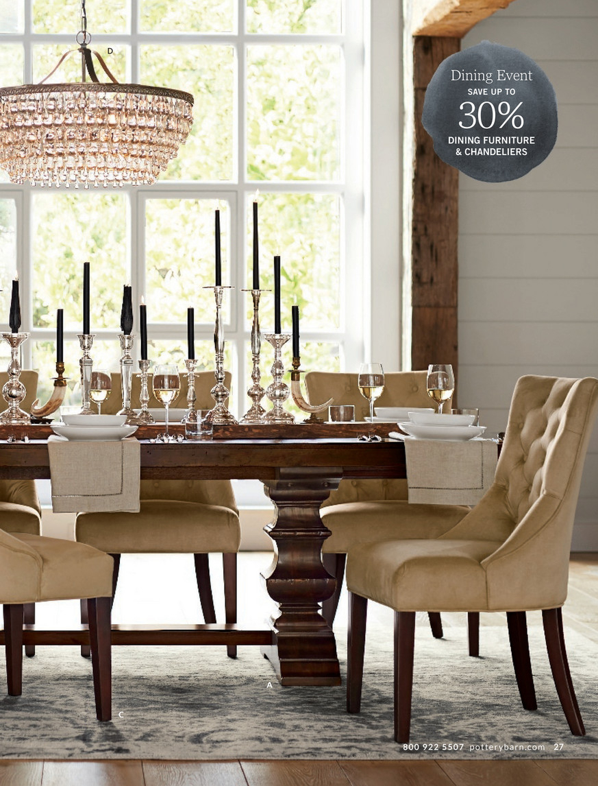 Pottery Barn – Spring 2017 D3 – Banks Extending Dining Table In Most Recent Alfresco Brown Banks Pedestal Extending Dining Tables (View 7 of 25)