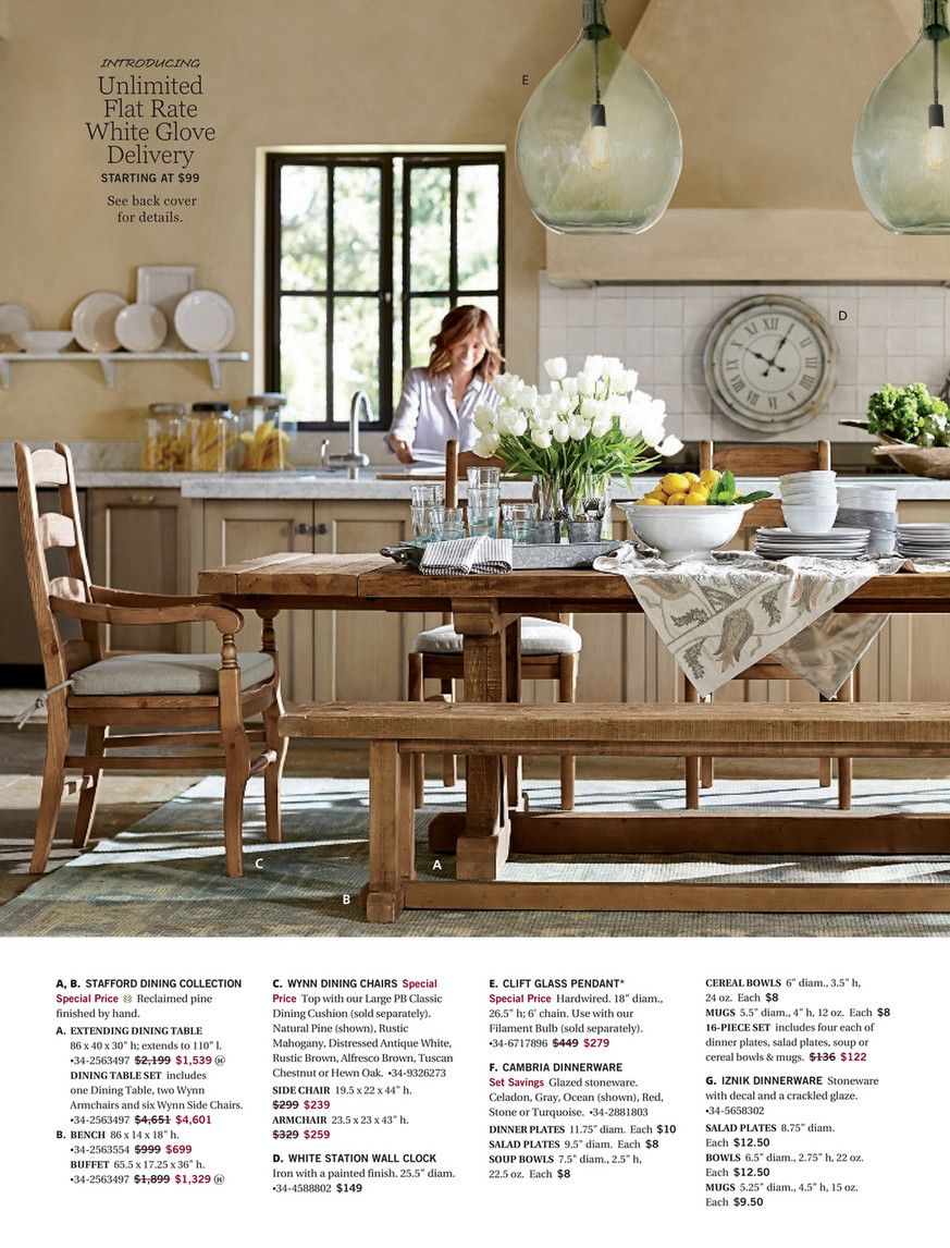 Pottery Barn – Spring 2017 D3 – Stafford Reclaimed Pine With Most Up To Date Stafford Reclaimed Extending Dining Tables (View 11 of 25)