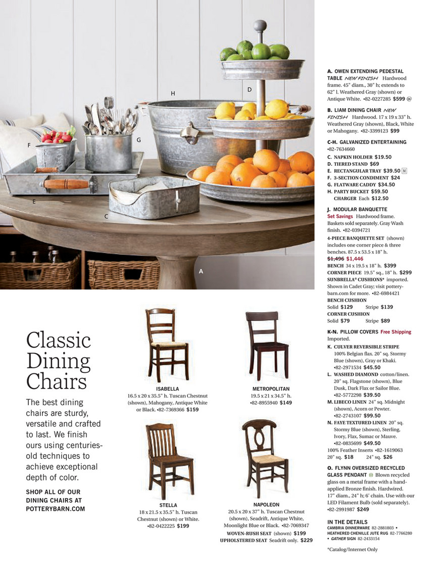 Pottery Barn – Spring 2018 D1 – Owen Extending Pedestal With Regard To Most Popular Weathered Gray Owen Pedestal Extending Dining Tables (View 8 of 25)