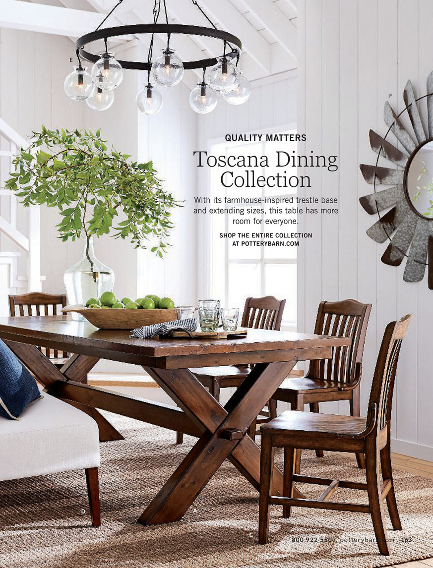 Pottery Barn – Spring 2018 D1 – Toscana Extending Dining In Current Tuscan Chestnut Toscana Dining Tables (View 10 of 25)