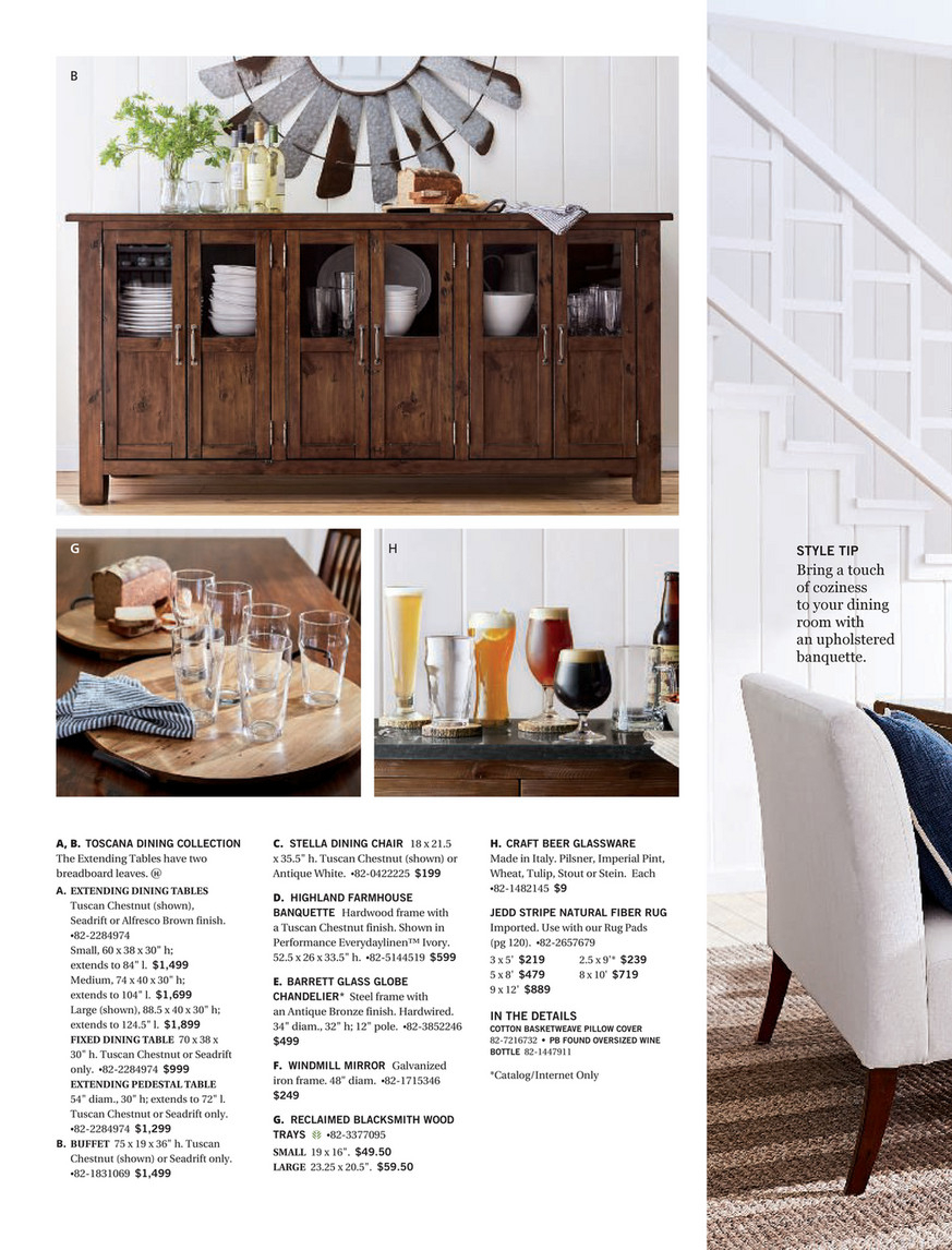 Pottery Barn – Spring 2018 D1 – Toscana Extending Dining Throughout Current Seadrift Toscana Extending Dining Tables (View 8 of 25)