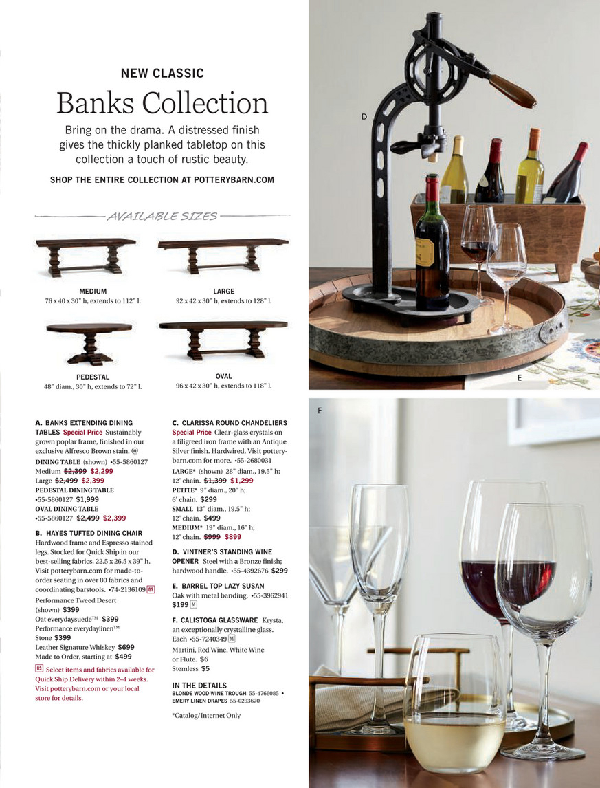 Pottery Barn – Summer 2017 D4 – Banks Extending Dining Table In Most Recently Released Alfresco Brown Banks Pedestal Extending Dining Tables (View 16 of 25)
