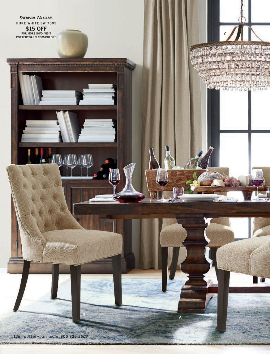 Pottery Barn – Summer 2017 D4 – Banks Extending Dining Table With Regard To Recent Alfresco Brown Banks Pedestal Extending Dining Tables (View 5 of 25)
