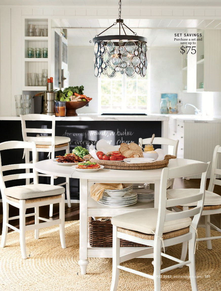 Pottery Barn – Summer 2017 D4 – Shayne Round Drop Leaf With Most Up To Date Antique White Shayne Drop Leaf Kitchen Tables (View 8 of 25)