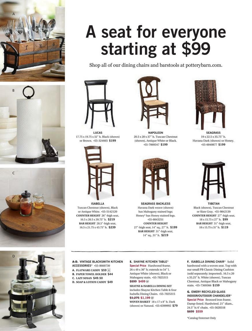 Pottery Barn – Summer 2017 D4 – Shayne Round Drop Leaf With Regard To Recent Black Shayne Drop Leaf Kitchen Tables (View 22 of 25)