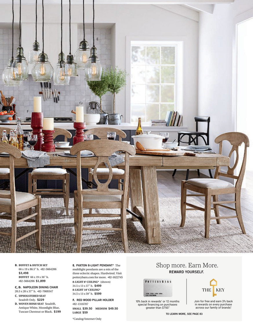 Pottery Barn – Winter 2018 D2 – Benchwright Buffet, Seadrift With Most Popular Seadrift Benchwright Pedestal Extending Dining Tables (View 10 of 25)