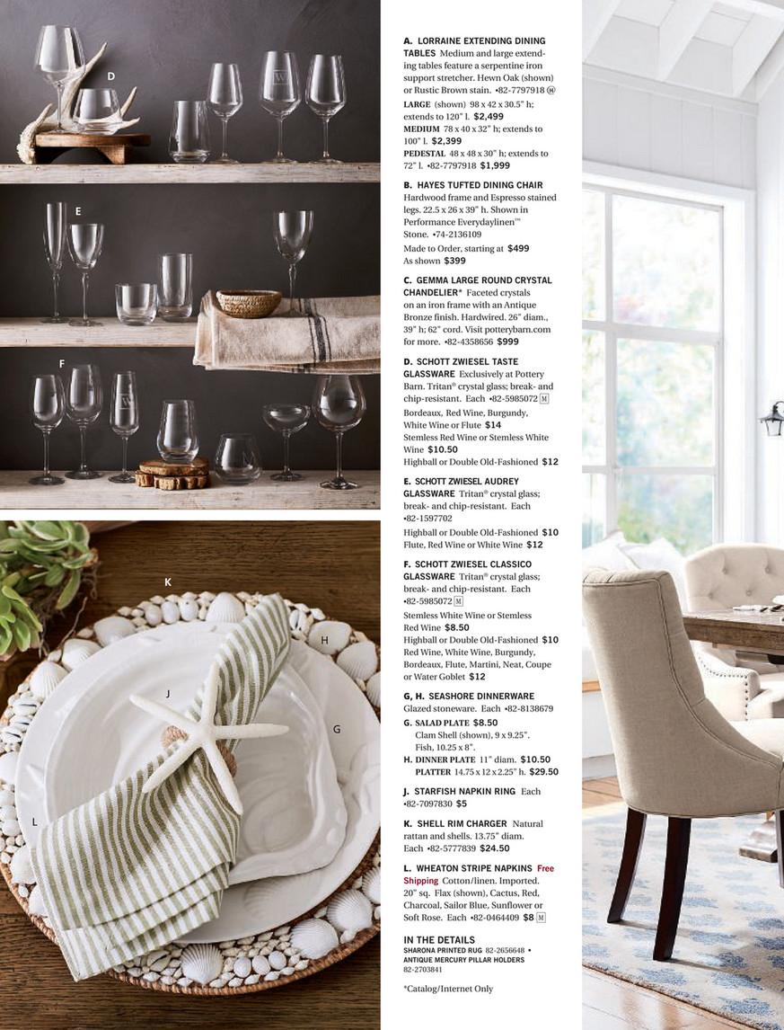 Pottery Barn – Winter 2018 D2 – Page 114 115 Inside 2017 Hewn Oak Lorraine Pedestal Extending Dining Tables (View 16 of 25)