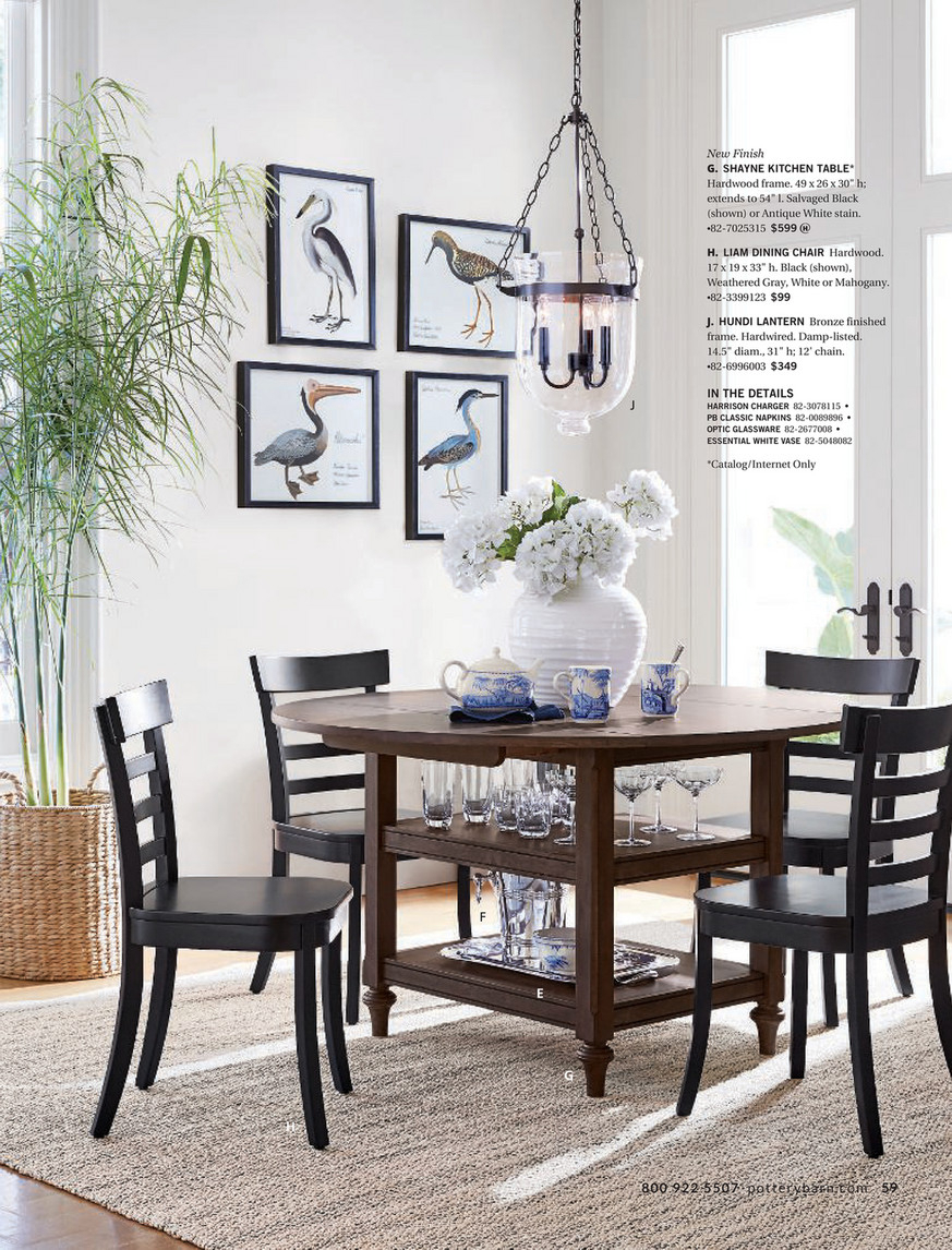 Pottery Barn – Winter 2018 D2 – Shayne Round Drop Leaf In Current Black Shayne Drop Leaf Kitchen Tables (View 12 of 25)
