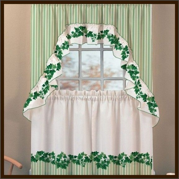 Pretty English Ivy Kitchen Curtains – Design Interior : Home With Cottage Ivy Curtain Tiers (View 7 of 25)