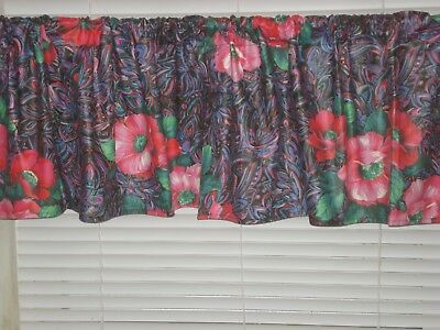 Pretty Paisley Poppy Flowers Pattern Window Valance/window Treatment Home Decor | Ebay Throughout Floral Pattern Window Valances (View 7 of 25)