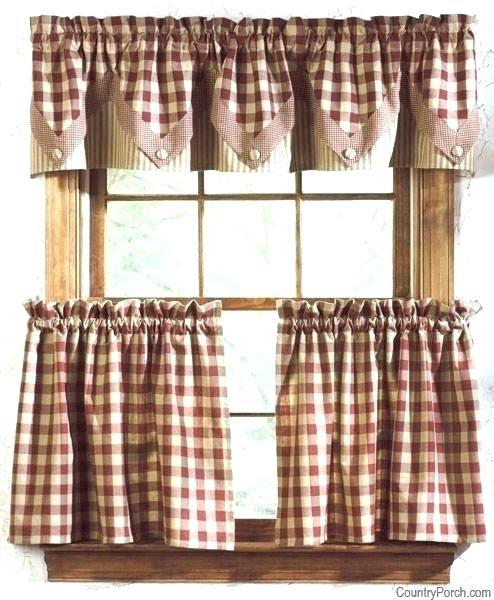 Primitive Kitchen Curtains – Boursefacile With Regard To Farmhouse Stripe Kitchen Tier Pairs (Image 22 of 25)