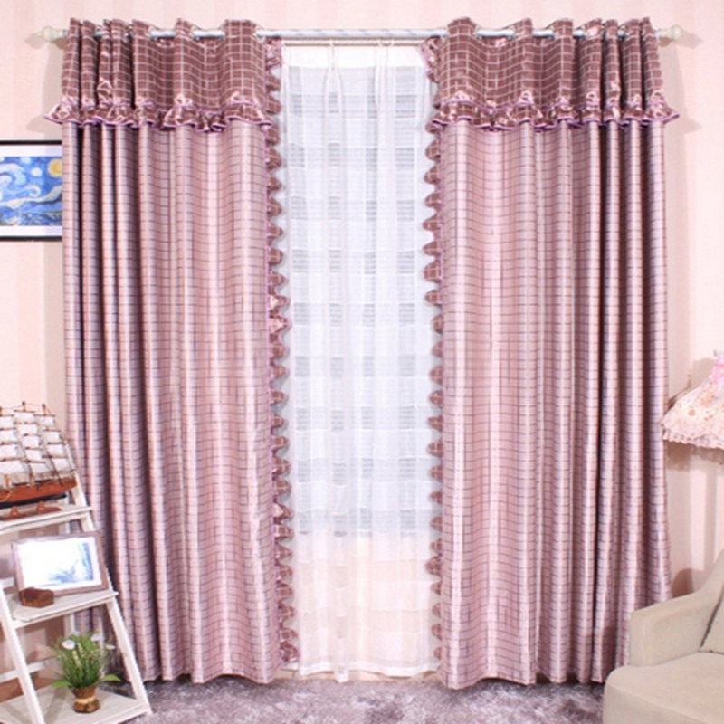 Printed Decorative Window Curtains Of Polyester Material (No Include Valance) Intended For Cotton Blend Classic Checkered Decorative Window Curtains (View 17 of 25)