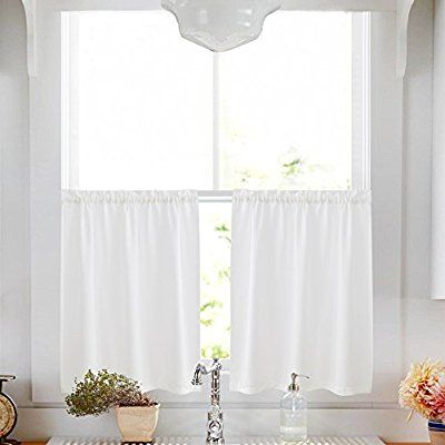 Privacy Thick Kitchen Tiers Semi Sheer Café Curtains Rod Pertaining To Floral Watercolor Semi Sheer Rod Pocket Kitchen Curtain Valance And Tiers Sets (View 11 of 25)