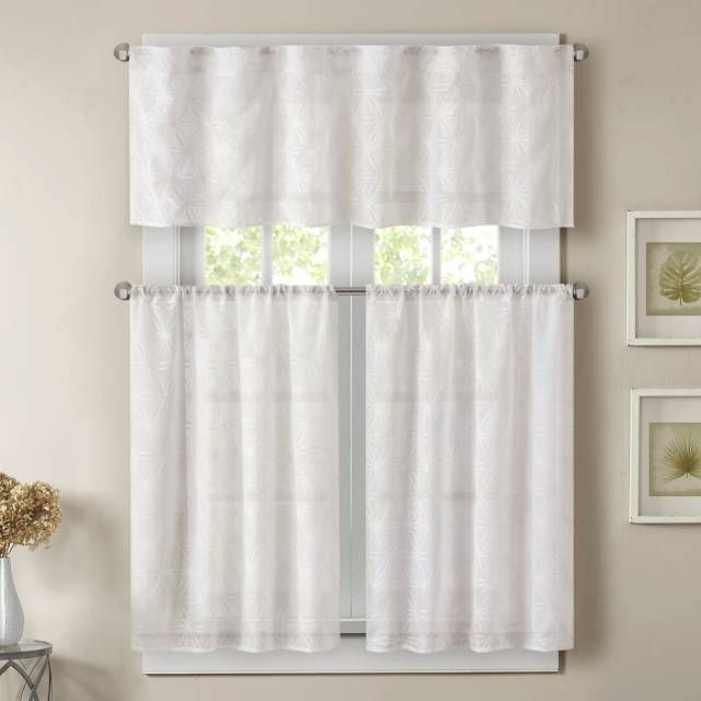 Product Image For Madison Park Gemma Sheer Window Curtain For White Micro Striped Semi Sheer Window Curtain Pieces (View 6 of 25)