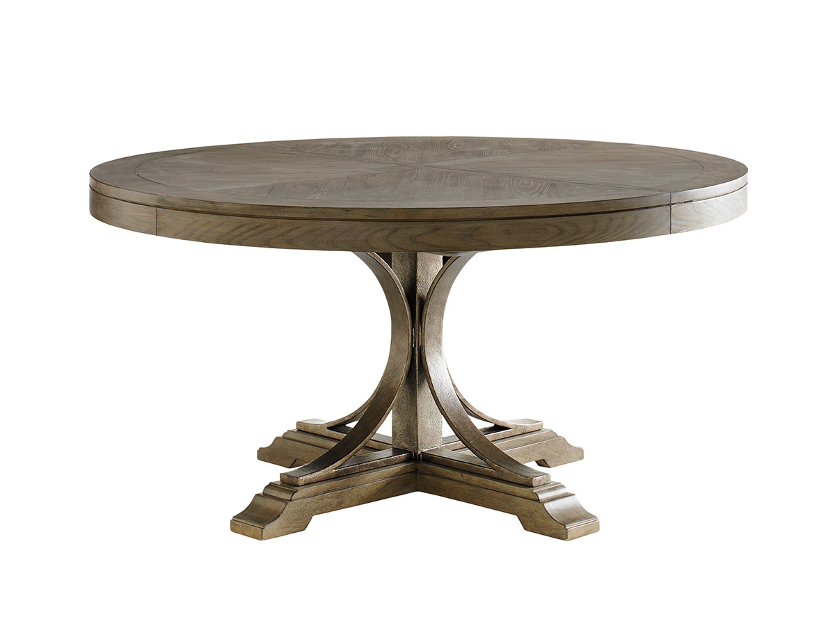 Product List Throughout Most Popular Benchwright Round Pedestal Dining Tables (View 21 of 25)