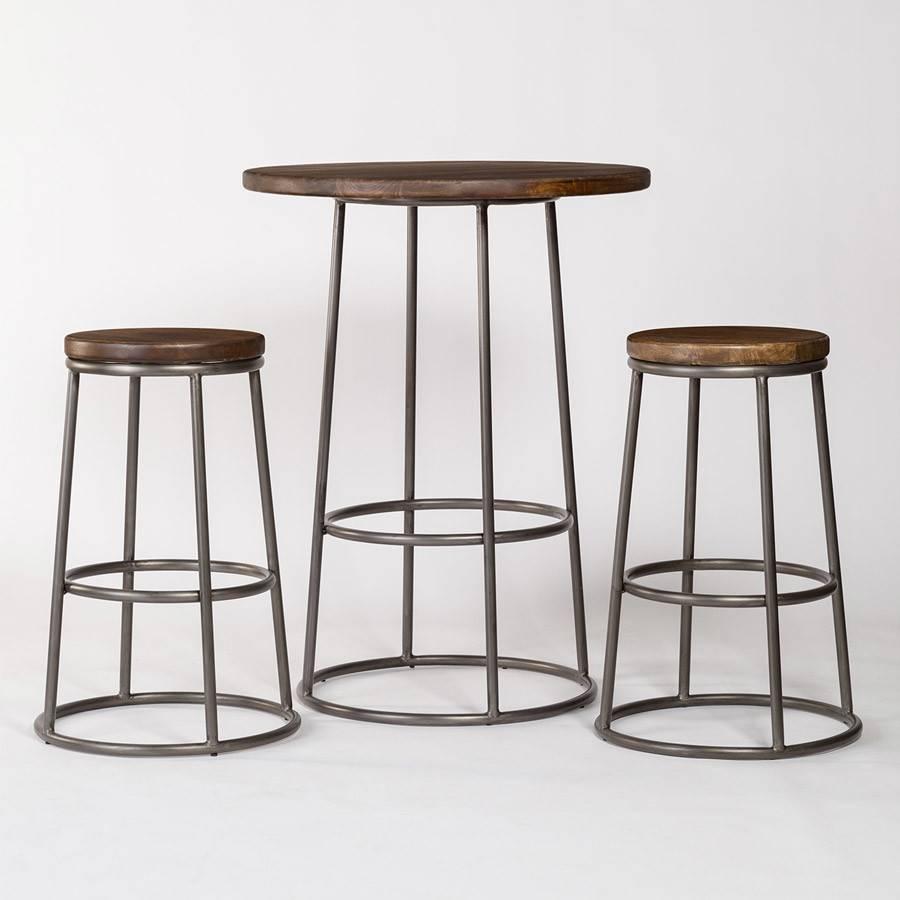 Pub Table W/ 2 Bar Stools With Recent Alder Pub Tables (Image 20 of 25)
