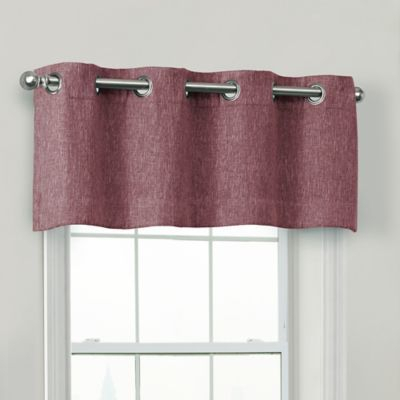 Quinn 100% Blackout Window Valance In Eggplant   Products In With Regard To Modern Subtle Texture Solid White Kitchen Curtain Parts With Grommets Tier And Valance Options (View 3 of 25)