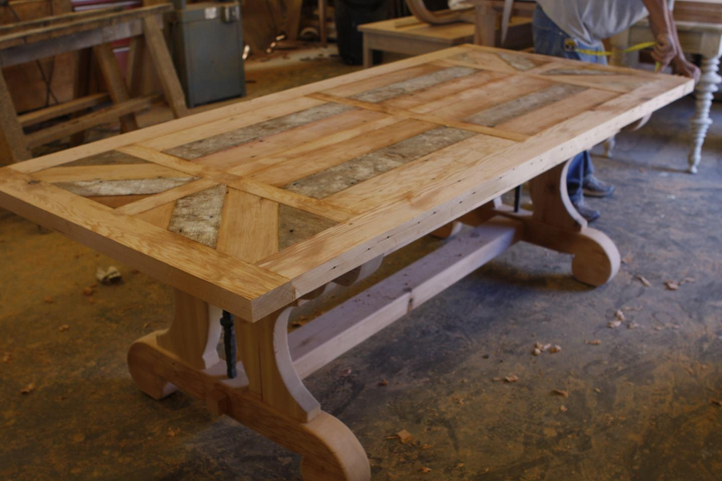 Reclaimed Dining Table Uk — Cairocitizen Collection Pertaining To Most Recent Griffin Reclaimed Wood Dining Tables (View 15 of 25)