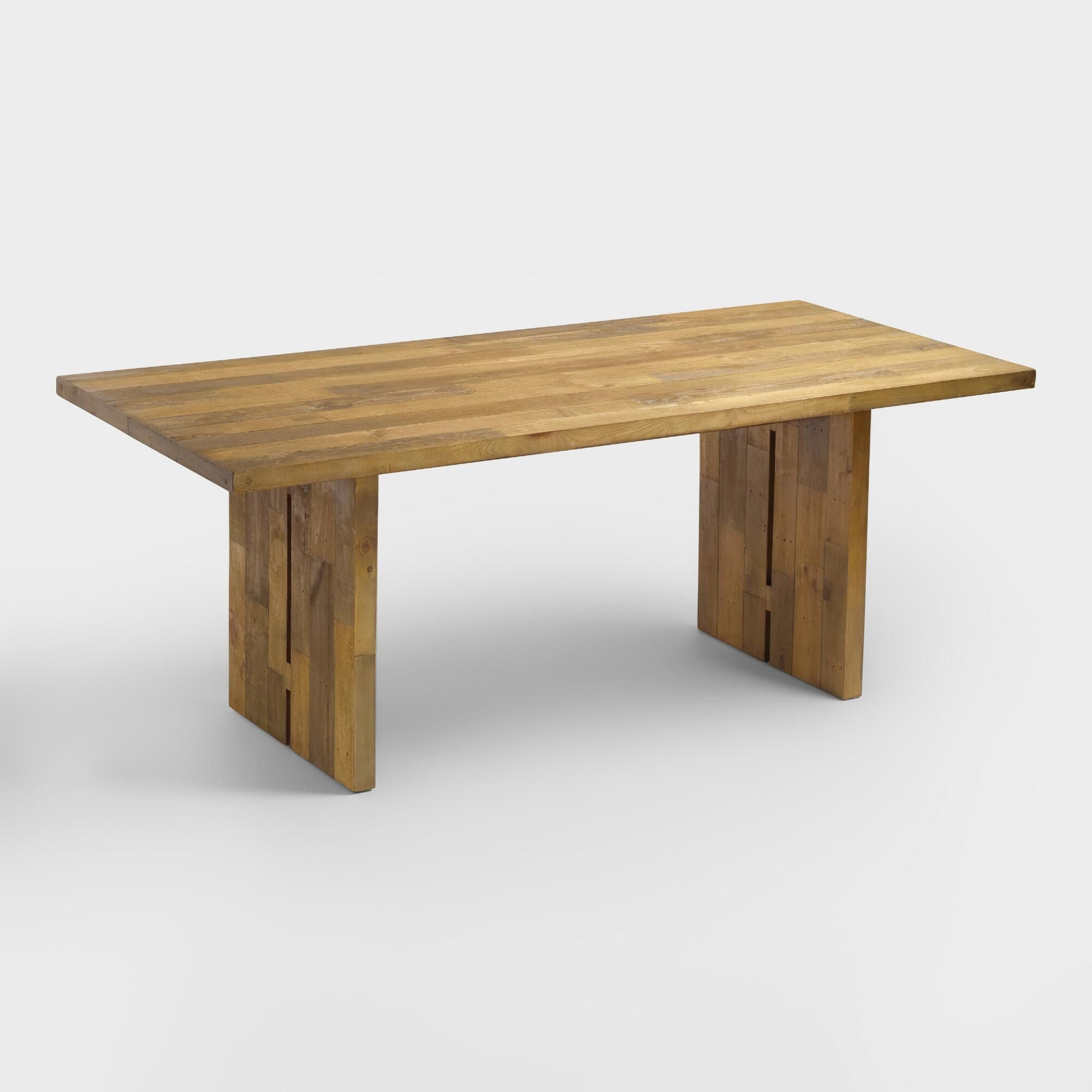 Reclaimed Pine Nolan Dining Table: Natural – Woodworld Inside Newest Nolan Round Pedestal Dining Tables (View 16 of 25)