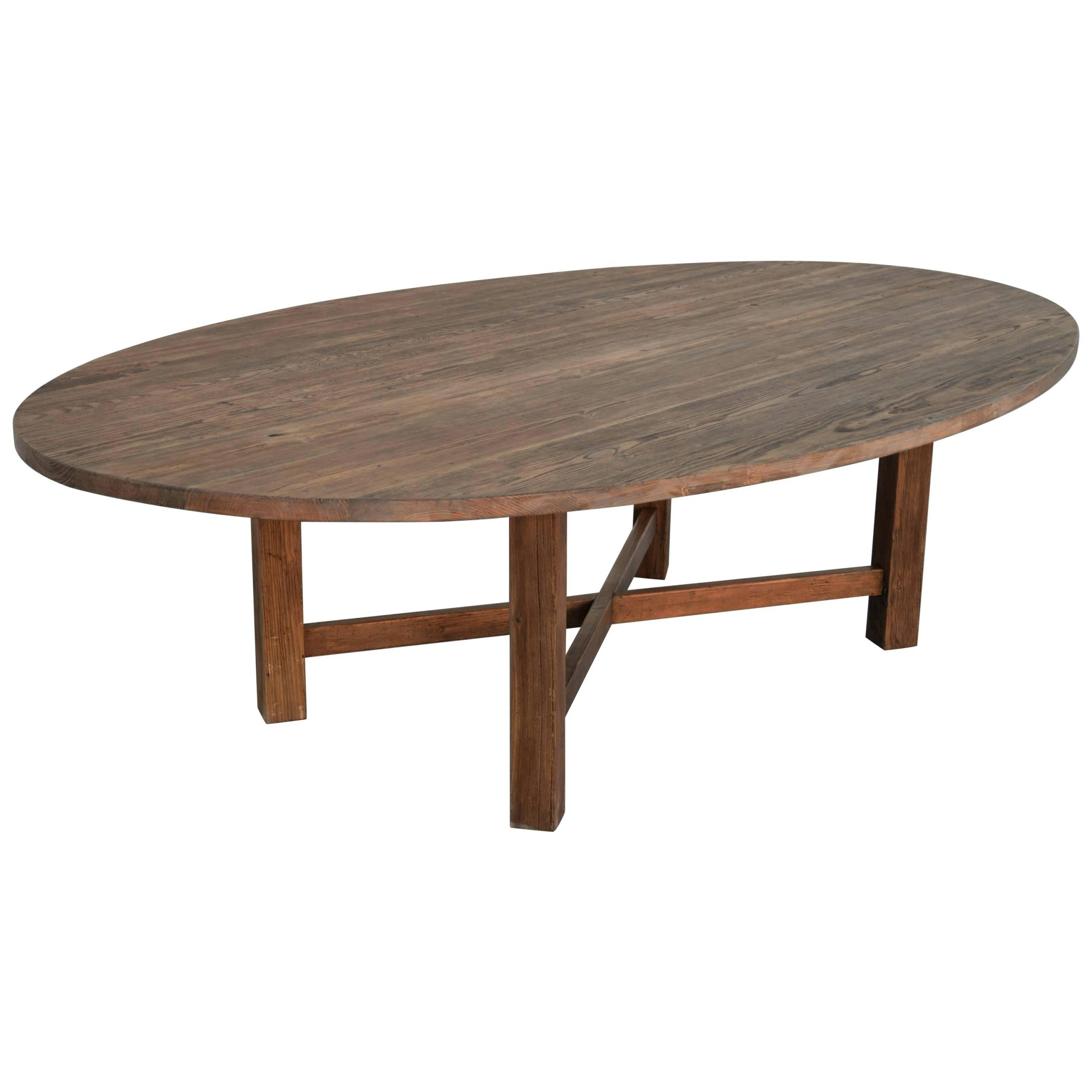 Reclaimed Wood Oval Dining Table – Axistechnology (Image 19 of 25)