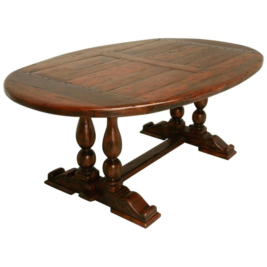 Reclaimed Wood Oval Dining Table – Axistechnology (Image 20 of 25)