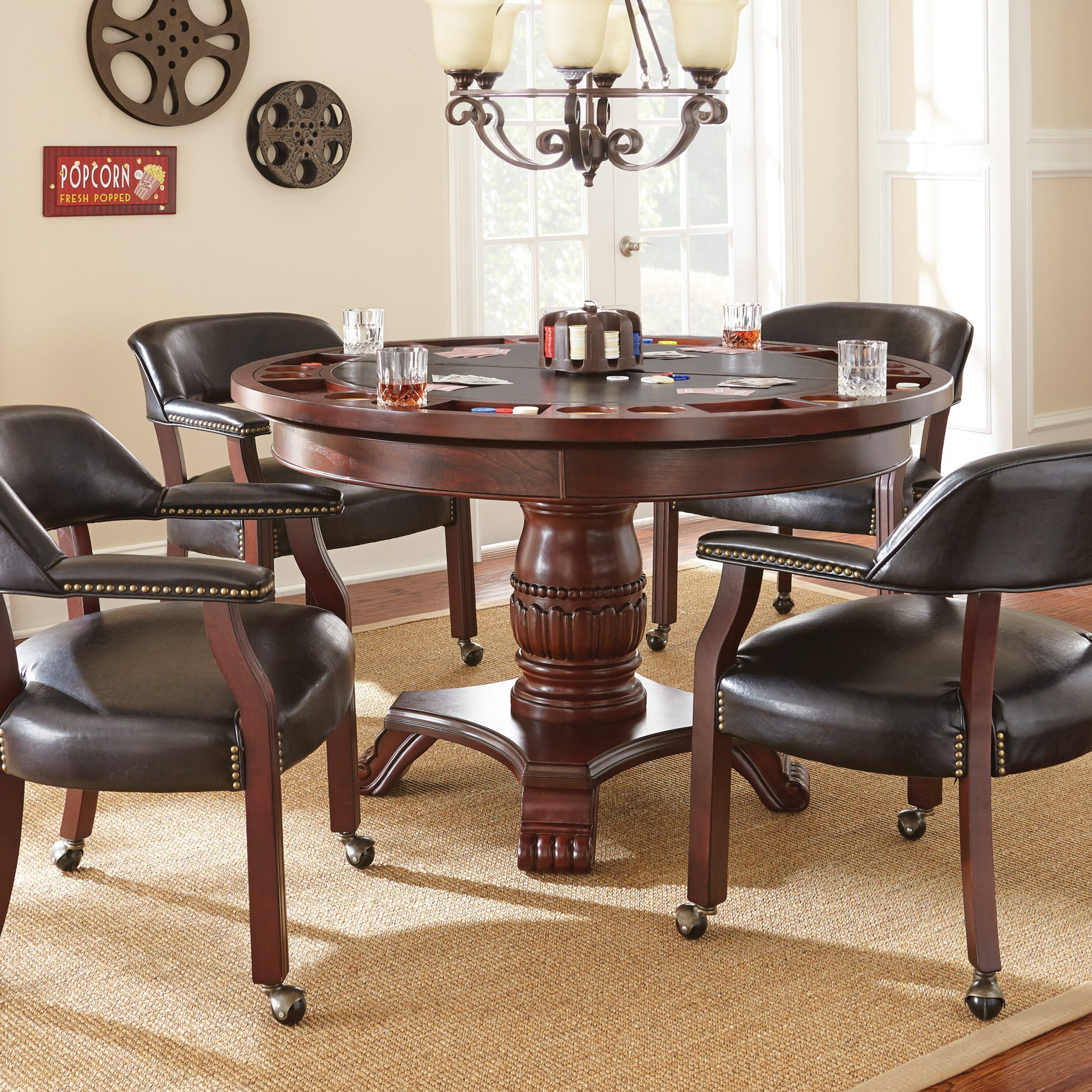 Red Barrel Studio Mcbride Dining Game Poker Table & Reviews With Regard To Newest Cleary Oval Dining Pedestal Tables (View 21 of 25)