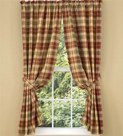 Red Plaid Curtain Panels – Scholam (View 7 of 25)