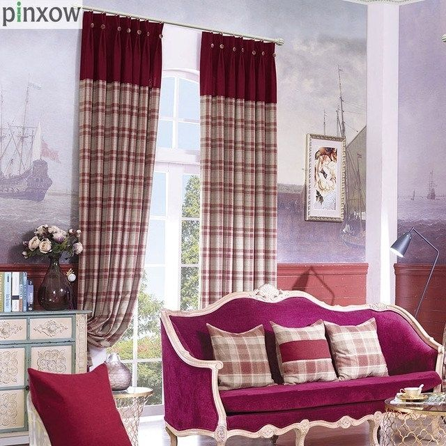 Red Plaid Curtain Panels – Scholam (View 18 of 25)