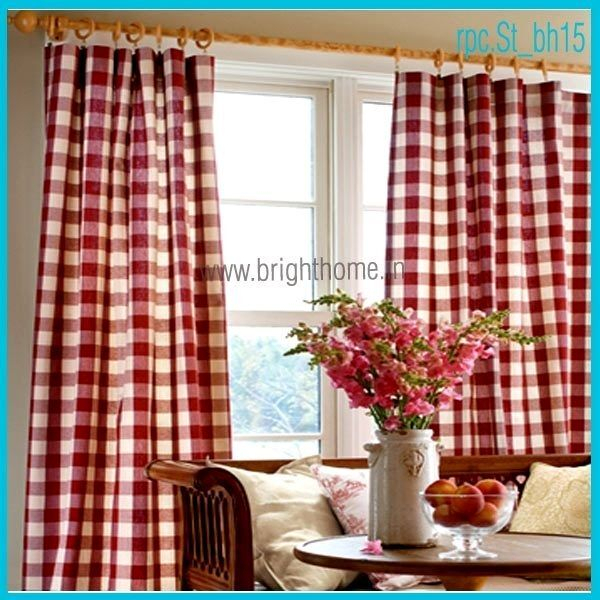 Red Plaid Curtain Panels – Scholam (View 10 of 25)