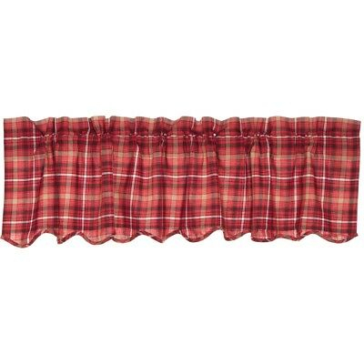Red Rustic & Lodge Kitchen Curtains Harvey Cabin Valance Rod Pocket Cotton  | Ebay Pertaining To Red Rustic Kitchen Curtains (Image 20 of 25)