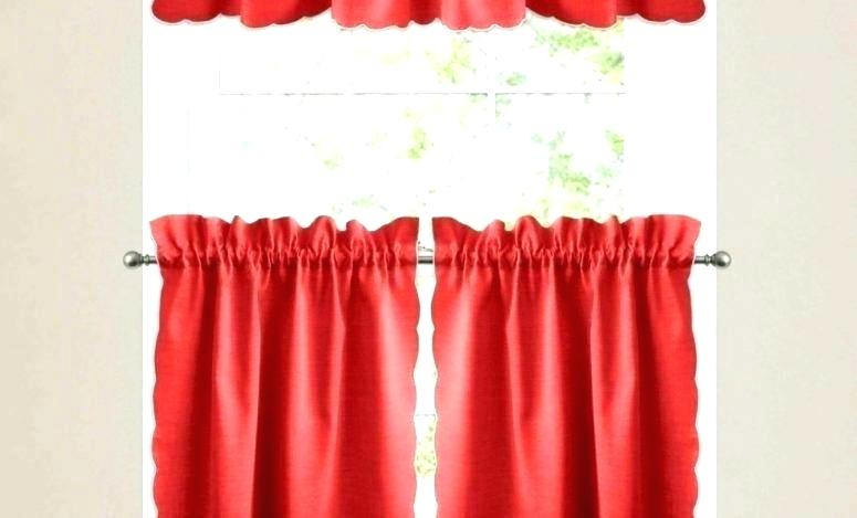 Red Valances For Kitchen Windows – Rockwear For Modern Subtle Texture Solid Red Kitchen Curtains (View 9 of 25)