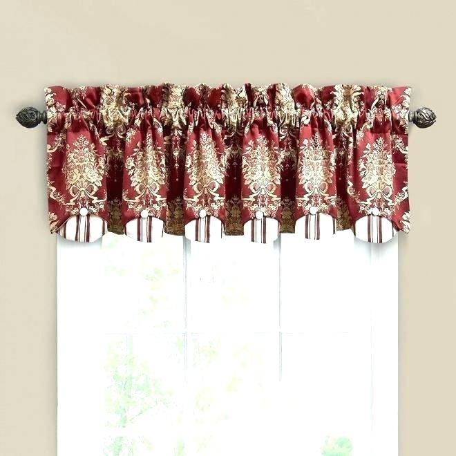 Red Valances For Kitchen Windows – Rockwear Inside Modern Subtle Texture Solid Red Kitchen Curtains (View 11 of 25)