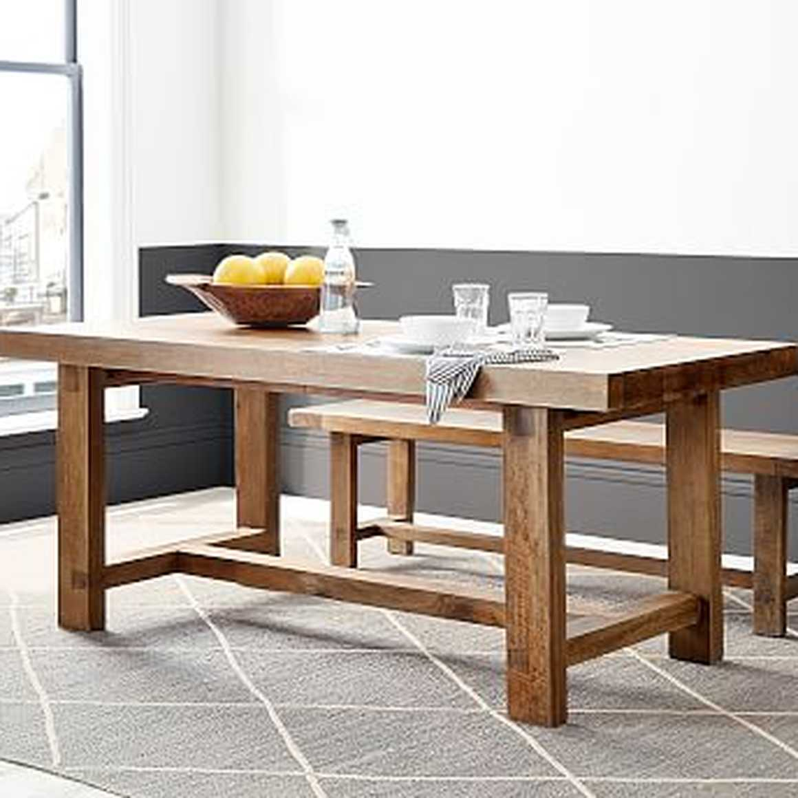 Reed Extending Dining Table, Antique Umberpottery Barn | Havenly Throughout Most Recent Reed Extending Dining Tables (View 2 of 25)