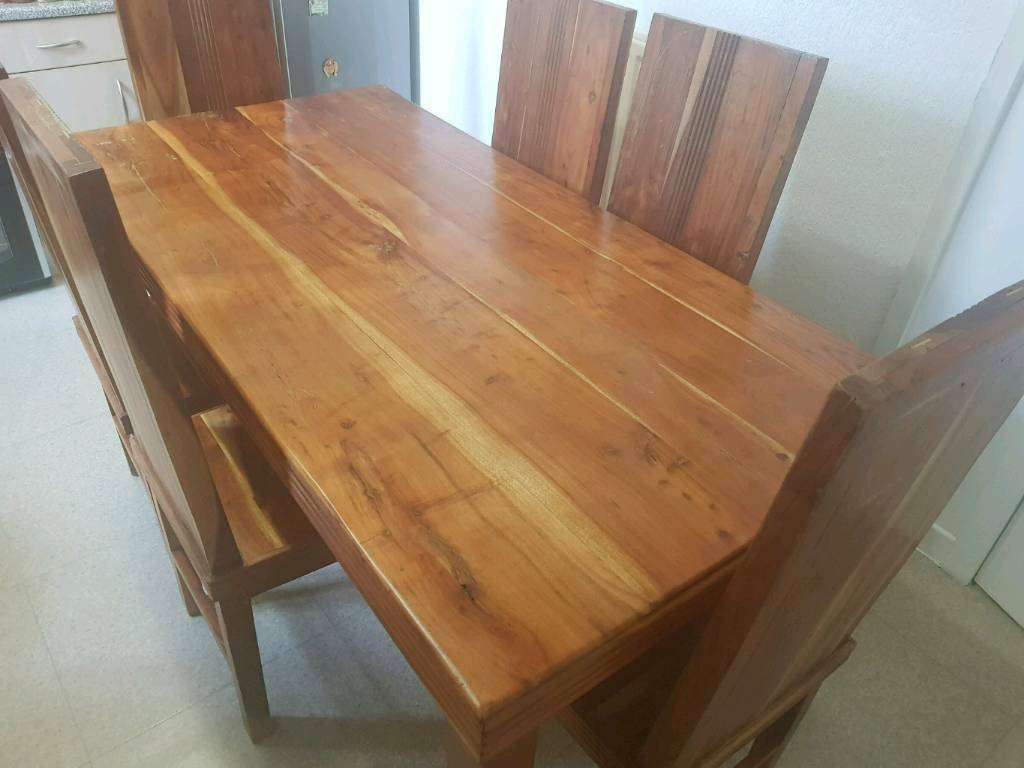 Reed Handmade Oak Dining Table And 6 Chairs | In Leigh, Manchester | Gumtree Intended For Most Current Reed Extending Dining Tables (View 6 of 25)