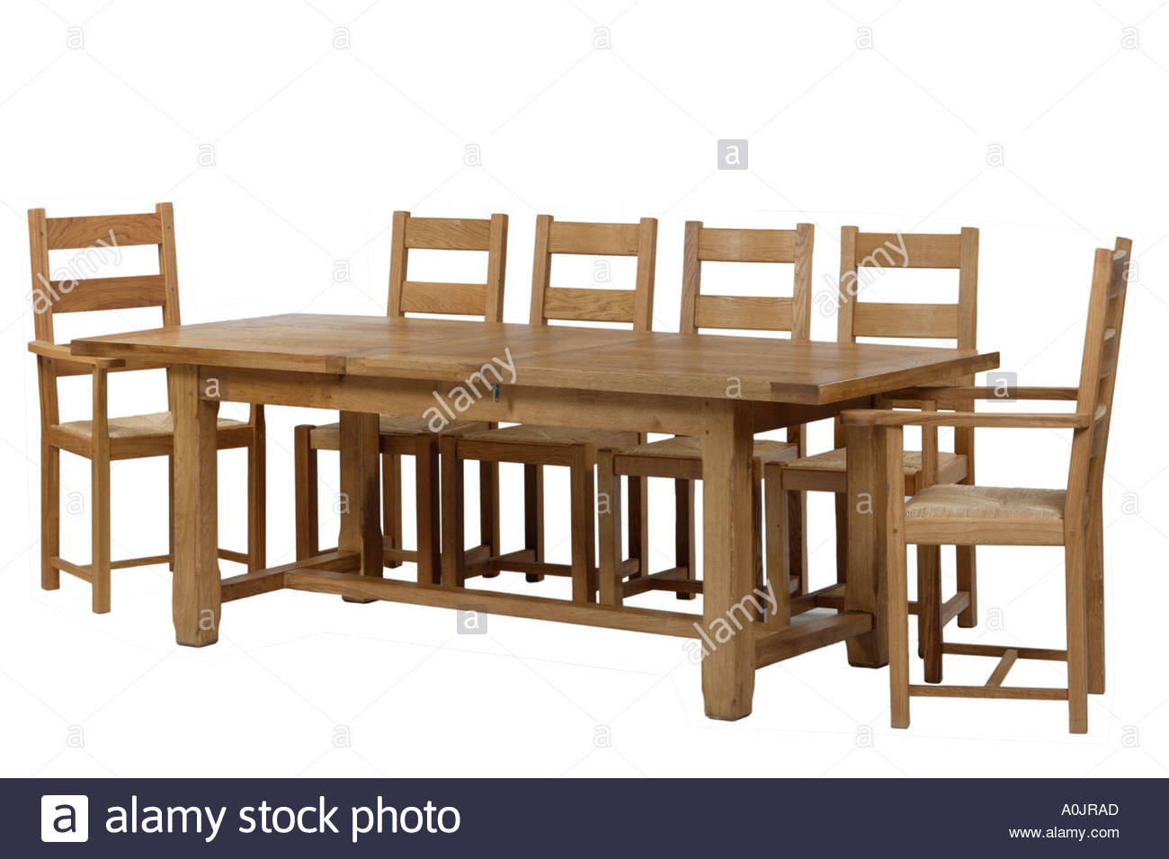 Refectory Dining Table And Chairs Stock Photo: 3268524 – Alamy For Most Up To Date Hearst Oak Wood Dining Tables (Image 20 of 25)